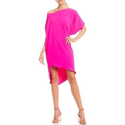トリーナターク レディース ワンピース トップス Radiant Asymmetric Off-the-Shoulder Hi-Low Dress