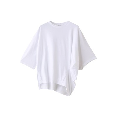 ENFOLD エンフォルド ハイツイスト天竺 Asymmetry Tシャツ レディース ホワイト 38
