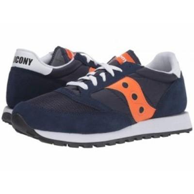 Saucony Originals サッカニー メンズ 男性用 シューズ 靴 スニーカー 運動靴 Jazz Original Vintage Navy/Orange【送料無料】