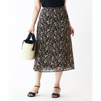 index / 花柄切替えフレアスカート【WEB限定サイズ】 WOMEN スカート > スカート