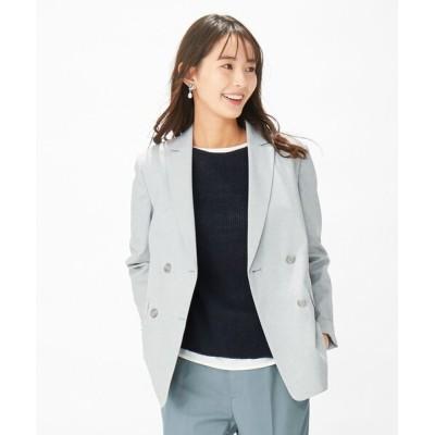 S size ONWARD(小さいサイズ) / 【洗える】シェルタリングドライオックス ジャケット WOMEN ジャケット/アウター > テーラードジャケット