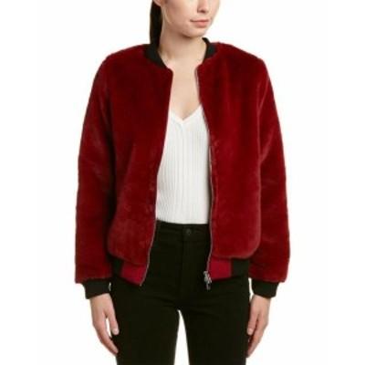 Red  ファッション 衣類 Honey Punch Bomber Jacket Xs Red