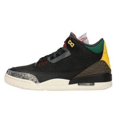 ナイキ NIKE AIR JORDAN 3 RETRO SE QS ANIMAL INSTINCT 2.0 CV3583-003 26.5cm エアジョーダン3スニーカー 中古 BS55