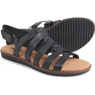 クラークス Clarks レディース サンダル・ミュール シューズ・靴 kele jasmine sandals - leather Black Leather