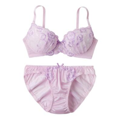 フレフルールブラジャー・ショーツセット(F80/L) (ブラジャー&ショーツセット)Bras & Panties