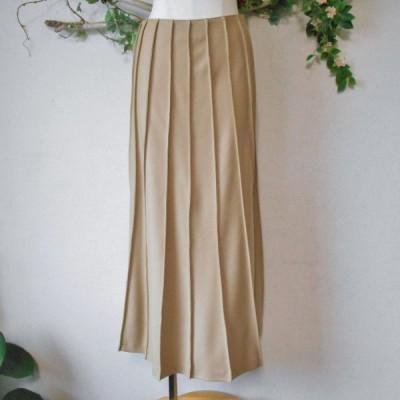 アンクライン ANNE KLEIN 秋冬 向き 羊毛 ウール 100% ロング スカート 日本製 9