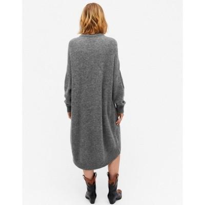 モンキ レディース ワンピース トップス Monki Meeko cocoon knitted sweater dress in gray Gray