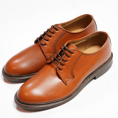 日本製グッドイヤーウエルト紳士靴 ショーンハイト 外羽根プレーントウ(SH308-1)ラバー底 ライトブラウン