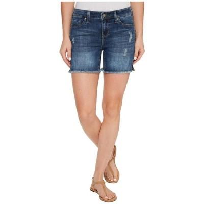 リバプール レディース ハーフパンツ・ショーツ ボトムス Vickie Shorts Frayed in Vintage Super Comfort Stretch Denim in Ridgecrest Destruct
