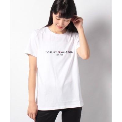 (TOMMY HILFIGER/トミーヒルフィガー)エンブロイダリーコットンTシャツ/レディース ホワイト