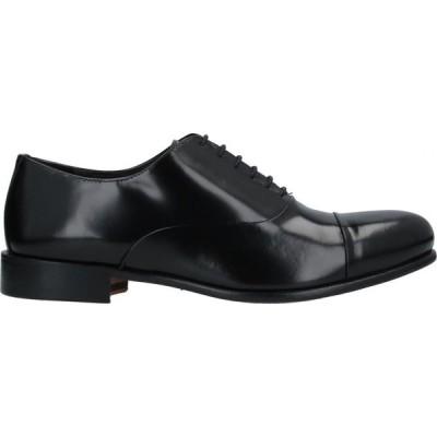 N.D.P. メンズ 革靴・ビジネスシューズ シューズ・靴 Laced Shoes Black