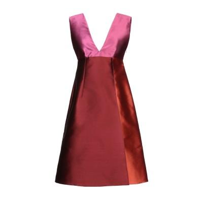 ジャンルカ・カパンノロ GIANLUCA CAPANNOLO ミニワンピース&ドレス ボルドー 42 ポリエステル 77% / シルク 23% ミニ