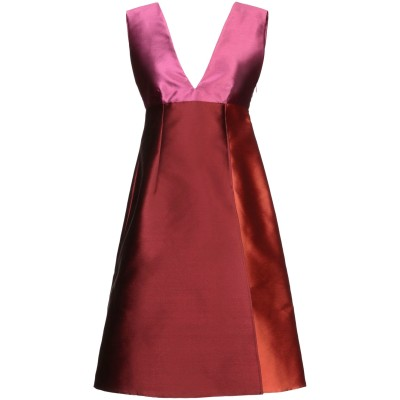 ジャンルカ・カパンノロ GIANLUCA CAPANNOLO ミニワンピース&ドレス ボルドー 40 ポリエステル 77% / シルク 23% ミニ