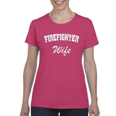 レディース 衣類 トップス Womens Firefighter`s Wife Short Sleeve T-Shirt Tシャツ