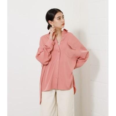 【62%OFF】 BIG POCKET DROP SHOULDER SHIRT/ビッグポケットドロップショルダーシャツ WOMENSレディース
