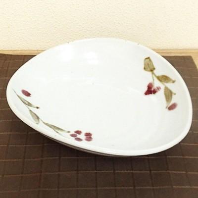 煮物鉢 たわみ鉢 紅雪花 おしゃれ ボウル 和食器 業務用 美濃焼 9b249-14