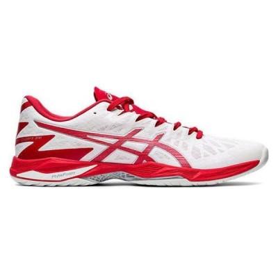 アシックス バレー、バスケ、ハンド シューズ  1053A017 WHITE/CLASSIC RED