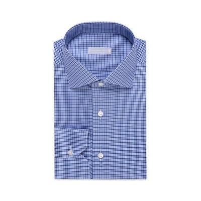ステファノリッチ メンズ シャツ トップス Men's Plaid Cotton Dress Shirt