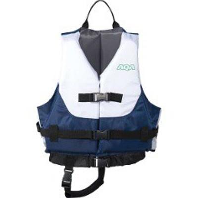 エーキューエー AQA ライフジャケットキッズ3 キッズサイズ(体重目安15~40kg) [カラー:ホワイト×ネイビー] #KA-9021-4605