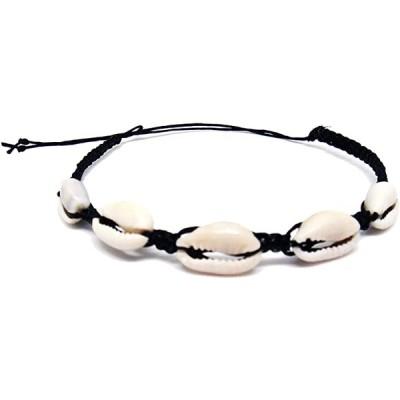 ブレスレット Cowrie Hawaiian Natural Shell Bead Bracelet Genuine Leather Stretch Chip Reggae Jamaican for Women