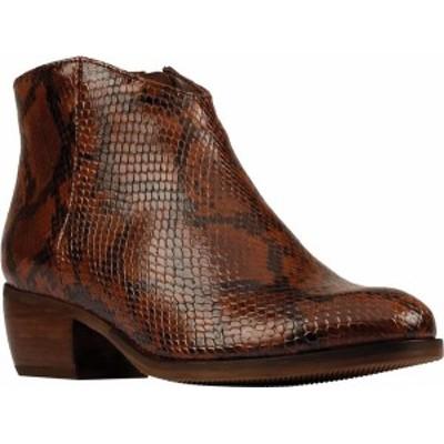 クラークス レディース ブーツ・レインブーツ シューズ Women's Clarks Mila Myth Ankle Bootie Tan Snake Leather