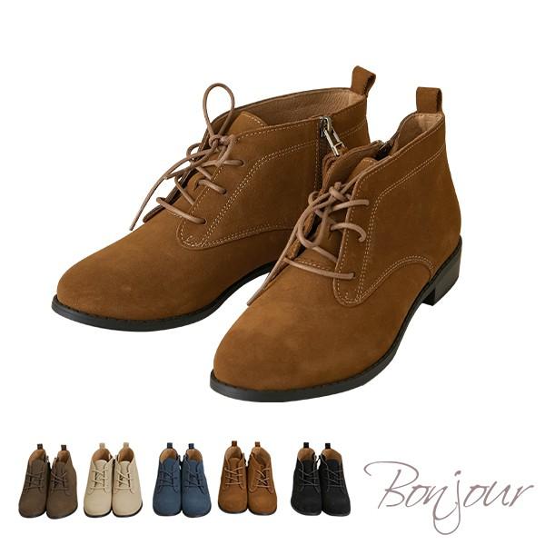 BONJOUR(雨靴推薦)365天防水OK!全真皮繫帶休閒小短靴防水短靴Rain boots ZB0415