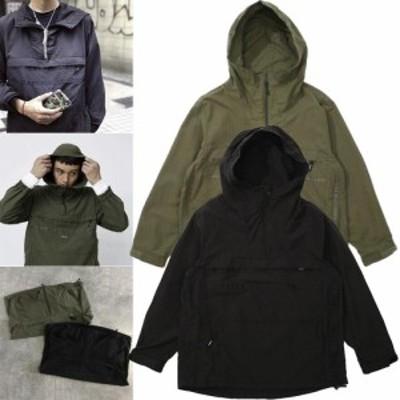 アノラックジャケット メンズ ウィンドジャマー ブラック レインジャケット アウター カジュアル 軽量