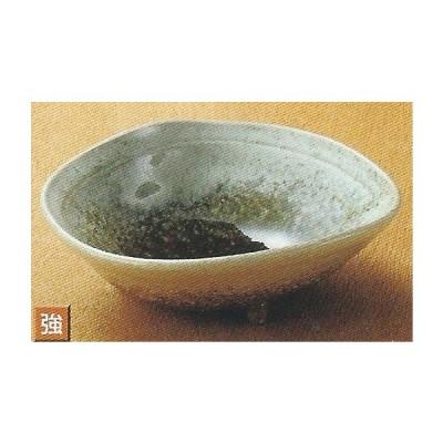 和食器08114-577 織部かすみ片押三ッ足5.0鉢 /15×12.8×6cm強化 料理道具・魚料理・刺身皿・光