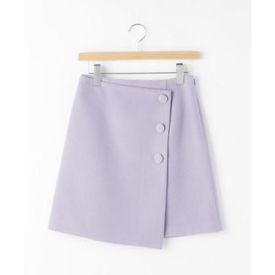 OFF PRICE STORE(Women)(オフプライスストア(ウィメン)) JILLSTUART LOU CHECKラップ風無地ミニスカート