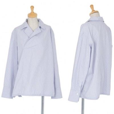 ワイズY's コットンストライププルオーバーシャツ ブルー白3 【レディース】