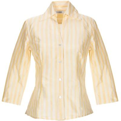 カリバン CALIBAN シャツ イエロー 40 シルク 100% シャツ
