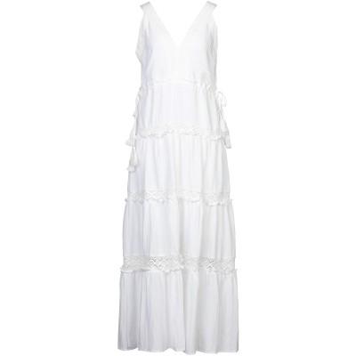CARE OF YOU 7分丈ワンピース・ドレス アイボリー S/M リネン 50% / レーヨン 50% 7分丈ワンピース・ドレス
