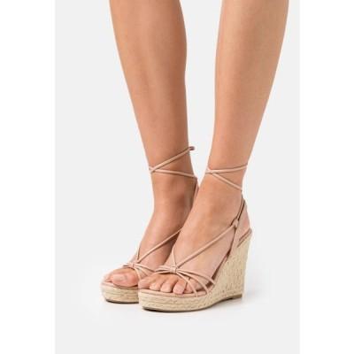 レディース サンダル ONLAMELIA WRAP KNOT - Platform sandals - light pink