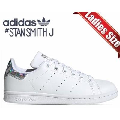【アディダス スタンスミス レディース】adidas STAN SMITH J ftwwht/ftwwht/cblack ee8483 スニーカー ウィメンズ ホワイト ガールズ ホ