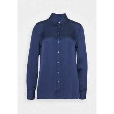 バナナ リバブリック シャツ レディース トップス DILLON SOFT - Button-down blouse - blue raven