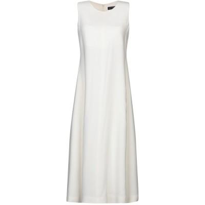 FABRIZIO LENZI 7分丈ワンピース・ドレス ホワイト 40 レーヨン 96% / ポリウレタン 4% 7分丈ワンピース・ドレス