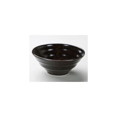 和食器ゆず天目6.0六兵丼/大きさ・18.2×7.5cm