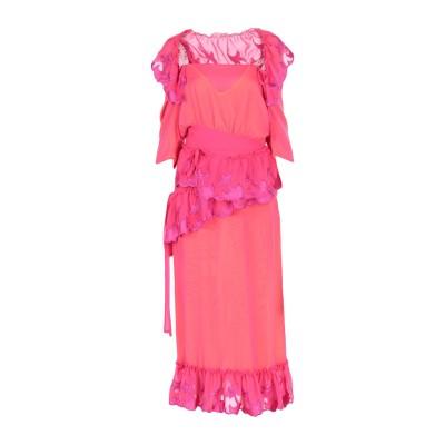 マルコ デ ヴィンチェンツォ MARCO DE VINCENZO ロングワンピース&ドレス フューシャ 42 ポリエステル 100% ロングワンピー
