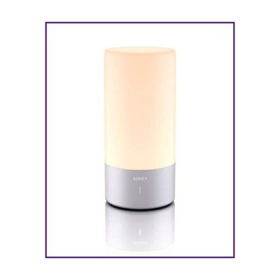 AUKEY テーブルランプ タッチセンサー ベッドサイドランプ 色が変わる RGB & 調光機能付き 温白色ライト