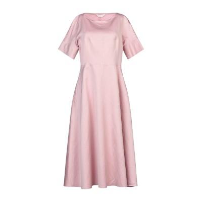 GUGLIELMINOTTI 7分丈ワンピース・ドレス パステルピンク 42 リネン 54% / コットン 46% 7分丈ワンピース・ドレス
