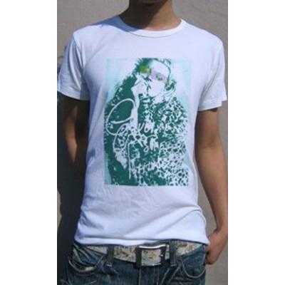 Tシャツ メンズ 半袖 豹柄 身を包んだ 女性モデルデザイン Tee 送料無料(d9-t)