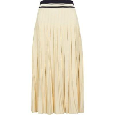 トリー バーチ Tory Burch レディース ひざ丈スカート スカート Cream Pleated Stretch-Knit Midi Skirt Natural