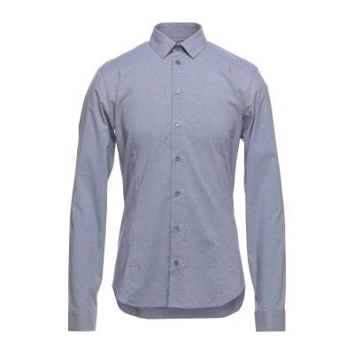 パトリツィア ペペ PATRIZIA PEPE シャツ ブルー 52 コットン 97% / ポリウレタン 3% シャツ