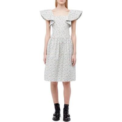 バットシェヴァ Batsheva レディース ワンピース ワンピース・ドレス Bow Dress Blue Micro Floral