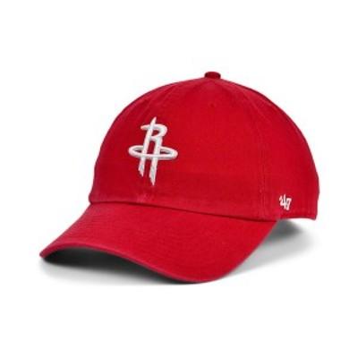 47ブランド メンズ 帽子 アクセサリー Houston Rockets CLEAN UP Cap Red