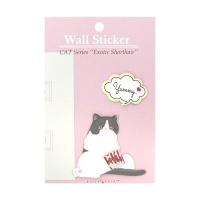 Cat wall Sticker(エキゾチック/白黒)