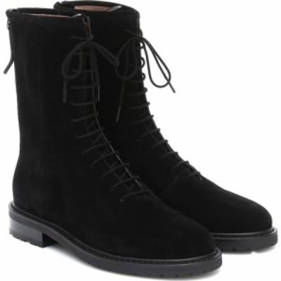 レグレス Legres レディース ブーツ コンバットブーツ シューズ・靴 suede combat boots Black