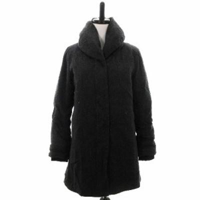 【中古】ビームスライツ BEAMS Lights コート ダウン 中綿 スタンドカラー 長袖 厚手 ウール 38 グレー レディース