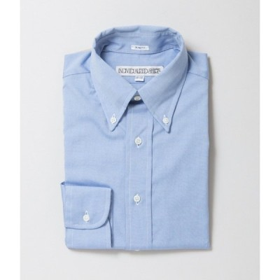 """INDIVIDUALIZED SHIRTS """"PINPOINT OXFORD TWO PLY 80'S SLIM FIT BUTTON DOWN SHIRT(LT BLUE)"""""""