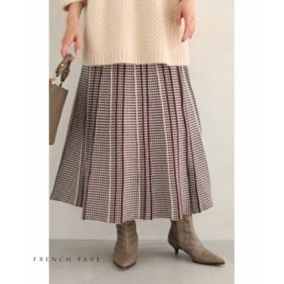 1/27 再入荷♪ w53249(S~L対応)細やかな柄模様の折り ニット ミディアムスカート レディース cawaii ファッション 30代 40代 50代 送